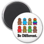 Be Different Ducks 2 Inch Round Magnet