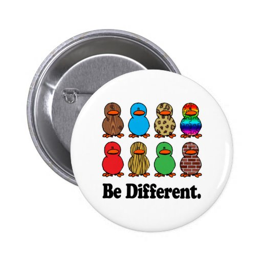 Be Different Ducks Buttons