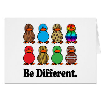 Be Different Ducks Card