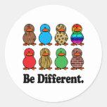 Be Different Ducks Classic Round Sticker