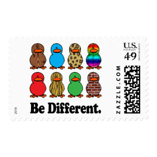 Be Different Ducks Postage Stamp