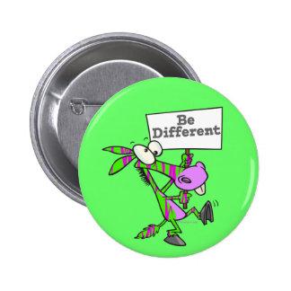 be different funky zebra pattern donkey pin