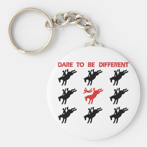 Be Different - Funny Horse Saying Key Chain