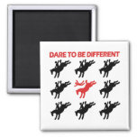 Be Different - Funny Horse Saying Refrigerator Magnet