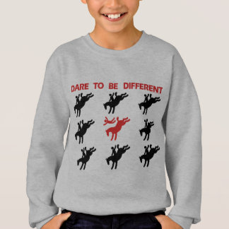 Be Different - Funny Horse Saying Sweatshirt