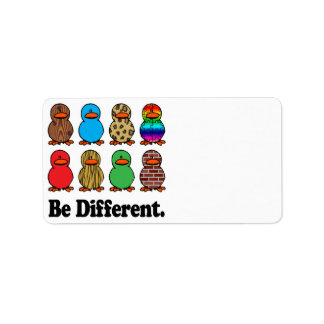 be different funny pattern ducky ducks address label