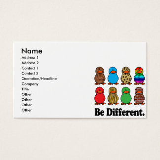 be different funny pattern ducky ducks business card