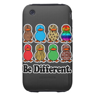 be different funny pattern ducky ducks iPhone 3 tough case