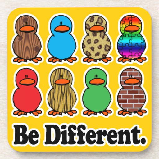 be different funny pattern ducky ducks beverage coaster