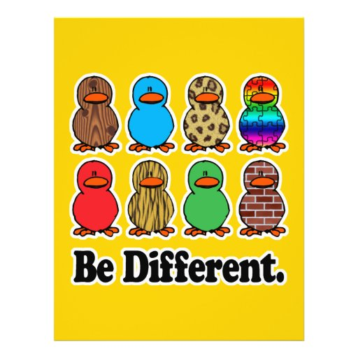 be different funny pattern ducky ducks flyer