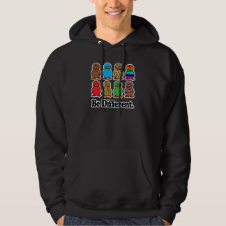 be different funny pattern ducky ducks hoodie