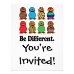 be different funny pattern ducky ducks personalized invite