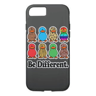 be different funny pattern ducky ducks iPhone 8/7 case