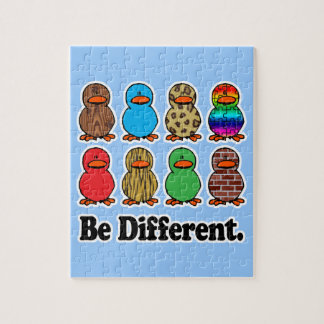 be different funny pattern ducky ducks jigsaw puzzle