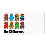 be different funny pattern ducky ducks shipping label