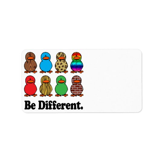 be different funny pattern ducky ducks label