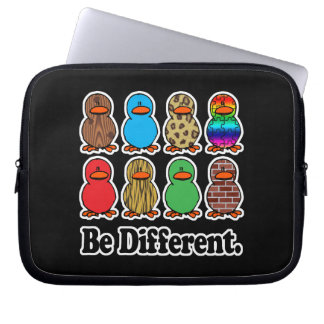 be different funny pattern ducky ducks laptop computer sleeve