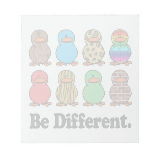 be different funny pattern ducky ducks note pad