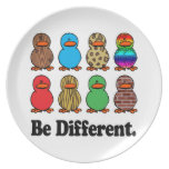 be different funny pattern ducky ducks party plates
