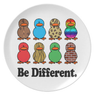 be different funny pattern ducky ducks dinner plates