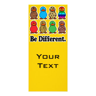 be different funny pattern ducky ducks rack card