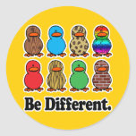 be different funny pattern ducky ducks round stickers
