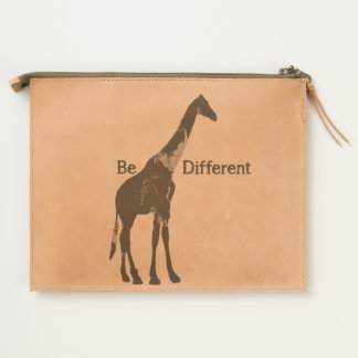 Be Different Giraffe Leather Travel Pouch