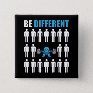 Be Different - Kawaii Anime Bodybuilding Workout Pinback Button