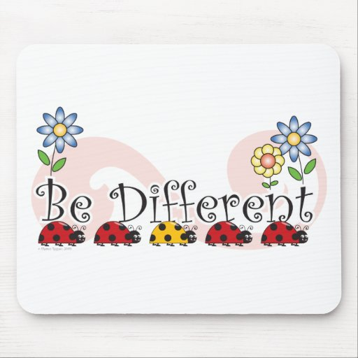 Be Different Ladybugs with Flowers Mousepad