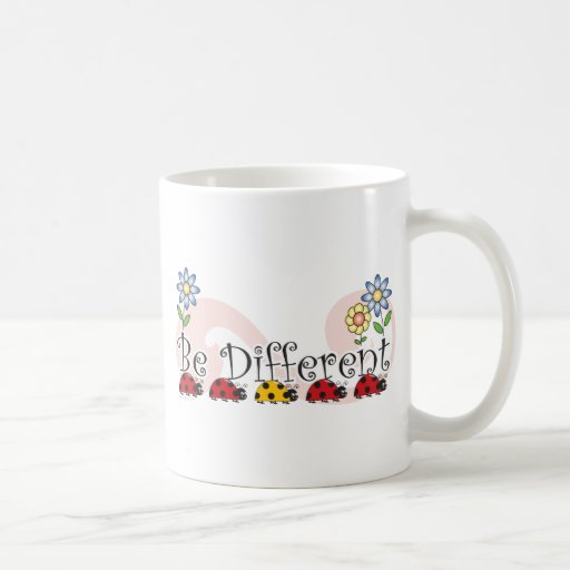 Be Different Ladybugs with Flowers Mug