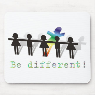 Be different! mouse pad