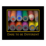 """""""Be different"""" Photo Poster Print"""