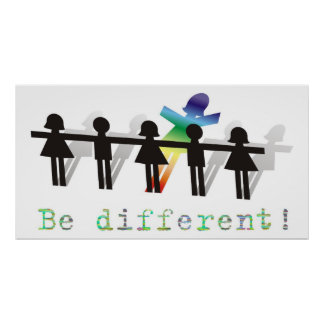 Be different! posters