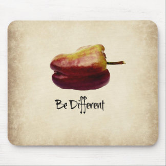 """Be Different"" Purple Bell Pepper Mousepad"
