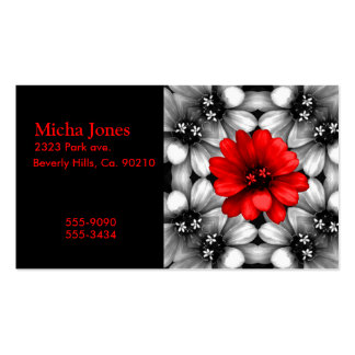 Be Different Red Flower Business Card Templates