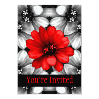 Be Different Red Flower Card