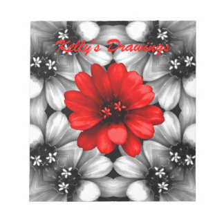 Be Different Red Flower Note Pad