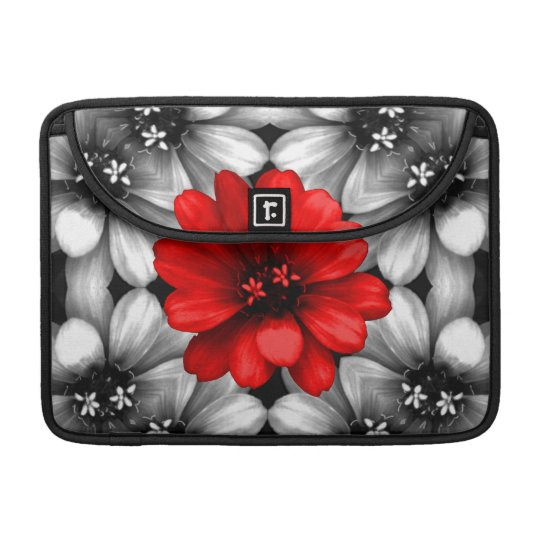 Be Different Red Flower Sleeve For MacBook Pro
