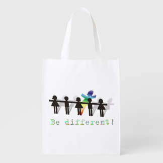 Be different! reusable grocery bag
