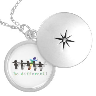 Be different! round locket necklace
