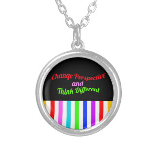 Be different silver plated necklace