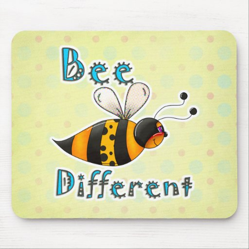Be Different Spotted Bumble Bee Mouse Pad
