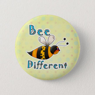 Be Different Spotted Bumble Bee Pinback Button