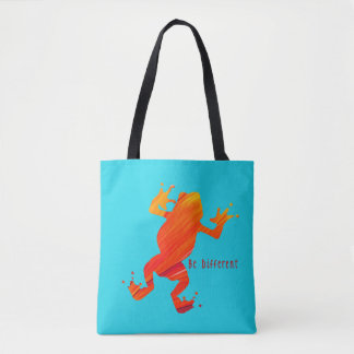 Be Different Tree Frog Tote Bag