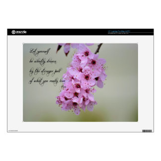 """Be Drawn By What You Love Cherry Blossom 15"""" Laptop Skins"""
