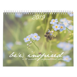 Be(e) Inspired 12 Month Flower Calendar
