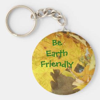 Be Earth Friendly Keychain