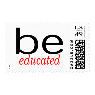 Be Educated Postage Stamps