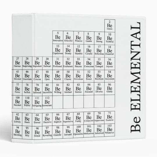 Be Elemental Avery Binder