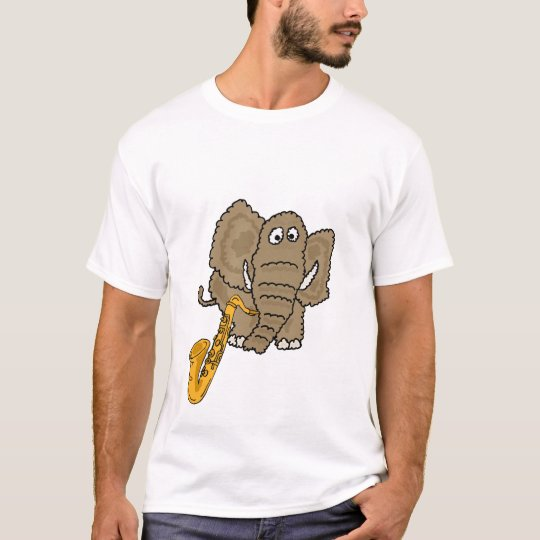BE- Elephant Playing the Saxophone T-shirt